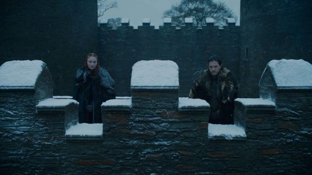 jon snow game of thrones wall